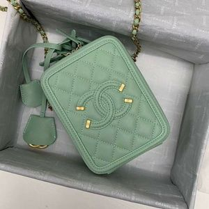 Chanel Vanity Bag New Style Check Description